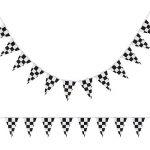10 Mètres Bannière de Damier Drapeau de Course Accessoire de Bannière de Drapeau de Partie pour la Décoration de Fête du Thème de la Course d'Anniversaire de la marque Pangda image 2 produit