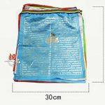 10pcs Tibet Shining Golden Words Tara bouddhiste écritures drapeaux délicate Impression colorée en soie drapeaux de prière avec 5couleurs Drapeau de la marque Dollbling image 6 produit