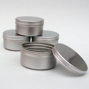 10 x Pot Bougie Aluminium 100ml Maquillage Large 100ml Capacité Vide Grand Produits de Beauté/Bougie/Epice Pots/Produit Cheveux/Boite Pot de la marque Avalon Cosmetic Packaging image 0 produit