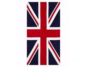 100% coton Drapeau britannique Union Jack Imprimé Serviette de plage de la marque ffs image 0 produit