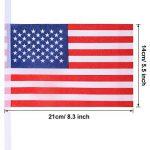 100 Drapeaux de Banderoles Américains Chaîne de Bannière États-Unis Drapeaux Étoiles et Rayures pour le 4 Juillet, Jour Anniversaire, Jour de Vétérans, Jour de l'Indépendance, Fête du Travail, Décorations de Jour de Drapeau de la marque Jovitec image 1 produit