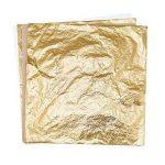 100 Feuilles Imitation Feuille d'Or pour les Arts, la Création de Dorure, la Décoration, 14 par 14 cm de la marque Bememo image 2 produit