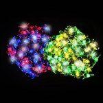 100 Guirlandes Solaires LED en Forme de Fleur Multicolores - Eclairages Extérieur Energie Solaire Imperméable - Lampes Solaires du Jardin / Lanterne Externe avec Intégré Nuit Capteur, Ficelle et Piquet - Lumières de fée Solaire Alimenté pour Noël, De Plei image 2 produit