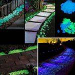 100pcs Glow in the Dark Galets pierres pierres lumineux pour jardin, extérieur, Sable, DIY Aquarium Décor Taille M blanc de la marque Brussels08 image 2 produit