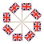 100 Pièces Cure-dents Drapeau Britannique Jack Flag l'Union Cupcake Toppers pour Anniversaire Mariage Fête de la Douche Fête Nationale de la marque Jovitec image 2 produit