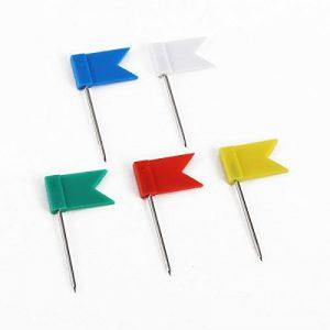 100 x Clou avec drapeau marque épingle murale mixte blanc bleu rouge jaune vert de la marque surepromise image 0 produit