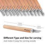 12 pièces Outil de Gravure en Bois Preciva Décapage Couteau Sculpture sur bois de la marque Preciva image 1 produit