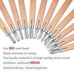12 pièces Outil de Gravure en Bois Preciva Décapage Couteau Sculpture sur bois de la marque Preciva image 4 produit