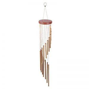 18 Metal Tubes Carillons éoliens Musical Windchime Deliver Tons relaxants Extérieur Jardin d'intérieur Patio Balcon Décor Cadeau d'anniversaire de la marque Fdit image 0 produit