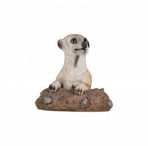 1PLUS Statue de jardin suricate en la construction en résine/Polyrésine, Figurine pour le jardin/extérieur de Domaine de la marque 1PLUS image 0 produit