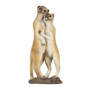 1PLUS Statue de jardin suricate Figurine Couple en résine/Polyrésine, pour le jardin/extérieur de Domaine de la marque 1PLUS image 0 produit