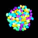 200cailloux décoratifs fluorescents Candora - Faits main - Pour jardin, allée, extérieur, aquarium bleu de la marque Candora image 4 produit