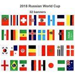 2018Coupe du monde de football fanions, 9m de long 14*21cm avec 32drapeaux nationaux de la marque Happyday image 1 produit