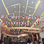 2018Coupe du monde de football fanions, 9m de long 14*21cm avec 32drapeaux nationaux de la marque Happyday image 3 produit