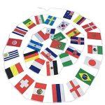 2018Coupe du monde de football fanions, Cheap4uk FIFA Coupe du monde Top 32Nations Petits drapeaux drapeaux fanions en tissu pour football Nuit, jardin, bannières, bar et décoration de jardin de la marque Cheap4uk image 1 produit