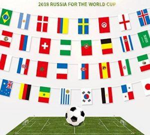 2018Coupe du monde de football fanions, Cheap4uk FIFA Coupe du monde Top 32Nations Petits drapeaux drapeaux fanions en tissu pour football Nuit, jardin, bannières, bar et décoration de jardin de la marque Cheap4uk image 0 produit