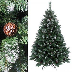 240 cm arbre sapin de Noël artificiel avec de la neige et de pommes de pin de la marque RS Trade image 0 produit