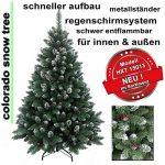 240 cm arbre sapin de Noël artificiel avec de la neige et de pommes de pin de la marque RS Trade image 1 produit
