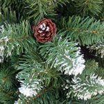 240 cm arbre sapin de Noël artificiel avec de la neige et de pommes de pin de la marque RS Trade image 4 produit