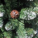 240 cm arbre sapin de Noël artificiel avec de la neige et de pommes de pin de la marque RS Trade image 3 produit