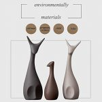 3 Pcs / Set céramique cerfs artisanat décoration de la maison famille,ameublement créatif d'art ornements cadeau, style moderne et éléments décoratifs créatifs de la marque WULAU image 3 produit