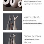 3 Pcs / Set céramique cerfs artisanat décoration de la maison famille,ameublement créatif d'art ornements cadeau, style moderne et éléments décoratifs créatifs de la marque WULAU image 2 produit