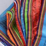 (34 x 34cm)40 Fuilles Drapeaux de Prière de 7M Bouddiste Tibétain Décoration Jardin Bouddha(20 Fuilles et 7M par chaque Rouleau) de la marque DEOMOR image 4 produit