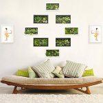3D Fleurs Artificielles Support mural Cactus Mousse sur la pierre feuilles vert herbe Fleur Rose avec cadre forme vase, 20x 35cm de la marque Artificial Flower-Wall Hanger image 1 produit