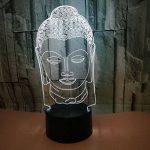 3D Statue de Bouddha LED Lampe Art Déco Lampe la Couleur Changeant Lumières LED Décoration Décoration Maison Enfants Meilleur Cadeau Lumière Touch Control 7 Couleurs Change USB Lampes Bureau Powered de la marque HPBN8 image 3 produit