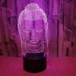 3D Statue de Bouddha LED Lampe Art Déco Lampe la Couleur Changeant Lumières LED Décoration Décoration Maison Enfants Meilleur Cadeau Lumière Touch Control 7 Couleurs Change USB Lampes Bureau Powered de la marque HPBN8 image 1 produit