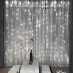 3x3M Rideau de Lumières, 8 Modes d'éclairage avec Fonction de Mémoire, 304 LEDs Lumières Décoration pour Jardin Maison Fête Noël Soirée Mariage, [Prise EU 31V DC] de la marque HanLuckyStars image 1 produit