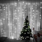3x3M Rideau de Lumières, 8 Modes d'éclairage avec Fonction de Mémoire, 304 LEDs Lumières Décoration pour Jardin Maison Fête Noël Soirée Mariage, [Prise EU 31V DC] de la marque HanLuckyStars image 2 produit