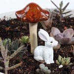 4couleurs 6-pack en céramique Statue de champignons de jardin, Envel champignons Fée Champignon Pots Décoration de jardin Pottery Ornement pour DIY Dollhouse Potting Shed Pot de fleurs plantes de la marque ENVEL image 3 produit