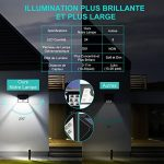 【4 Pack】Lampe Solaire à Electrolyte Amélioré, Mpow Lumière Solaire 3 Modes Intelligents Etanche Détecteur de Mouvement avec Panneau Solaire,270° Grand Angle Eclairage Extérieur Solaire, Luminaire Solaire pour Patio, Pont, Jardin, Allée, Mur de la marque M image 2 produit