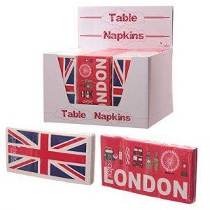 4 PIÈCES Paquet de 10 serviettes de table de cuisine avec un design sites touristiques de Londres et drapeau anglais et Britannica de la marque Subitodisponibile image 0 produit