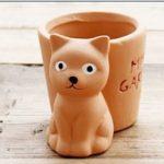 5cinq Pots de fleurs Terre cuite Rouge animaux Intérieur Desk Mini Flesh Pots de fleurs & # nitrure; Ours et Carbide PCB;, Red, cat de la marque 5Five image 2 produit