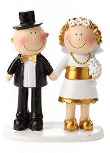 '50th Golden Wedding Anniversary Pair 50 Year Anniversary Golden Wedding Cake Figures/Table Decoration by Hochzeit Dekoration de la marque Hochzeit Dekoration image 0 produit