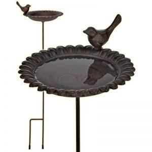 57027 Baignoire pour oiseaux en fonte avec perche Marron antique de la marque Inconnu image 0 produit