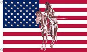 5ft X 3ft (150x 90cm) USA indien sur cheval des États-Unis d'Amérique 100% Polyester Drapeau bannière Idéal pour Pub Club école Festival Business Party Décoration de la marque UKFlagShop image 0 produit
