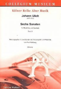 6SONATES bande 2(N ° 4–6): pour flûte à bec et BC (Clavecin) 2Partitions de jeu avec Fac-similé (pas suspendu) de la marque Edition Walhall Franz Biersack image 0 produit