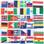 72-pack du Pays des drapeaux–International drapeaux du monde, décorations de fête, 72Pays différents, couleurs assorties, 19,1x 13,2cm de la marque Juvale image 3 produit
