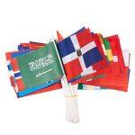 72-pack du Pays des drapeaux–International drapeaux du monde, décorations de fête, 72Pays différents, couleurs assorties, 19,1x 13,2cm de la marque Juvale image 1 produit