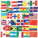 72-pack du Pays des drapeaux–International drapeaux du monde, décorations de fête, 72Pays différents, couleurs assorties, 19,1x 13,2cm de la marque Juvale image 2 produit