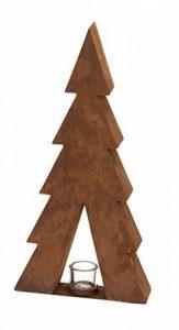 A-Deko Objets de décoration sapin avec porte-bougie A, rouille, 29,5x 8x 60cm de la marque A-Deko image 0 produit