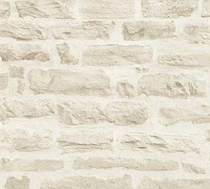 A.S. Création Papier Peint Intissé Best of Wood n Stone 2nd Edition Papier peint imitation pierre Photo Pierre réaliste Papier peint Pierre Naturelle 10, 05M x 0, 53M Beige Crème fabriqué en Allemagne 35580335580–3, beige, crème de la marque A.S. Créa image 0 produit