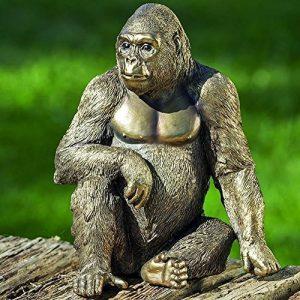 Accessoires, décoration intérieure et extérieure - Statuette Gorilla - Matériau: résine synthétique - H22 cm de la marque Unbekannt image 0 produit
