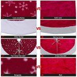 AerWo 48 Inch Velvet Snowflake Christmas Tree Skirt 2018 Nouvel An Décoration de Noël de la marque AerWo image 4 produit