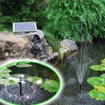 Agora-Tec AT-10W Pompe solaire pour étang ou fontaine 10 WDébit max. 600 l/h Hauteur fontaine 1 m de la marque Agora-Tec image 1 produit