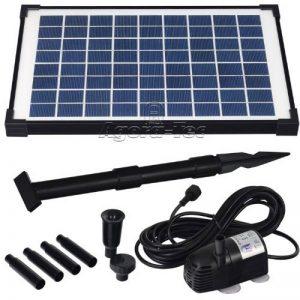 Agora-Tec AT-10W Pompe solaire pour étang ou fontaine 10 WDébit max. 600 l/h Hauteur fontaine 1 m de la marque Agora-Tec image 0 produit