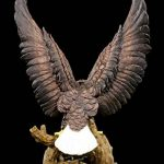 Aigle statue de jardin–Blanc Aigle à tête de avec ailes ausgebreiteten | Statue Figurine de jardin décoration de la marque Figuren Shop GmbH image 3 produit